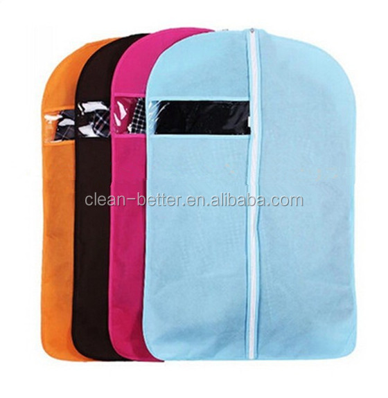 customized hanger suit cover/Disposable garment bag for suits