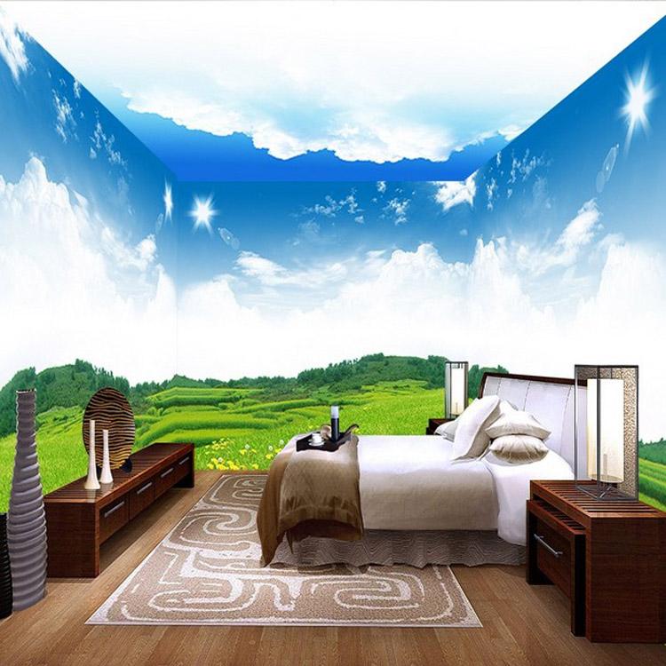 3d pared de techo para ni os childrens dormitorio papel for Papel mural para dormitorio