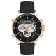 genuine leather de longe quartz digital watch