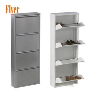Fashion style different color metal shoe cabinet