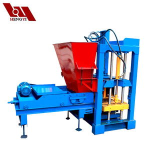 cement block maker, colorful paver block machine, semi automatic cement hollow block machine QT4-25BH