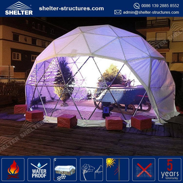 5m diamenter steel structure Geodesic dome home tent with PVC window and chimney hole option & China Tent With Pvc Wholesale ?? - Alibaba