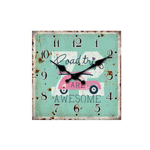 OEM/ODM produce rectangle rustic decor styl art wall metal clock models custom wall clock for print different types pattern