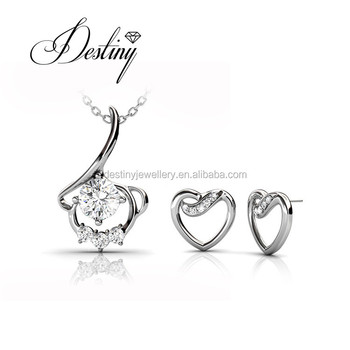 58e5ab8cf Destiny Jewellery OEM/ODM angle jewelry sets new fashion pendant and  earrings made with crystals