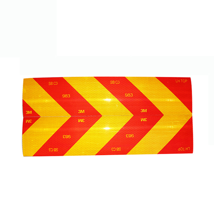 RSK01A Factory Price Wholesale Light Road Sign Transparent Truck Car 3m Safety Reflective Sticker Sheet Printing Paper