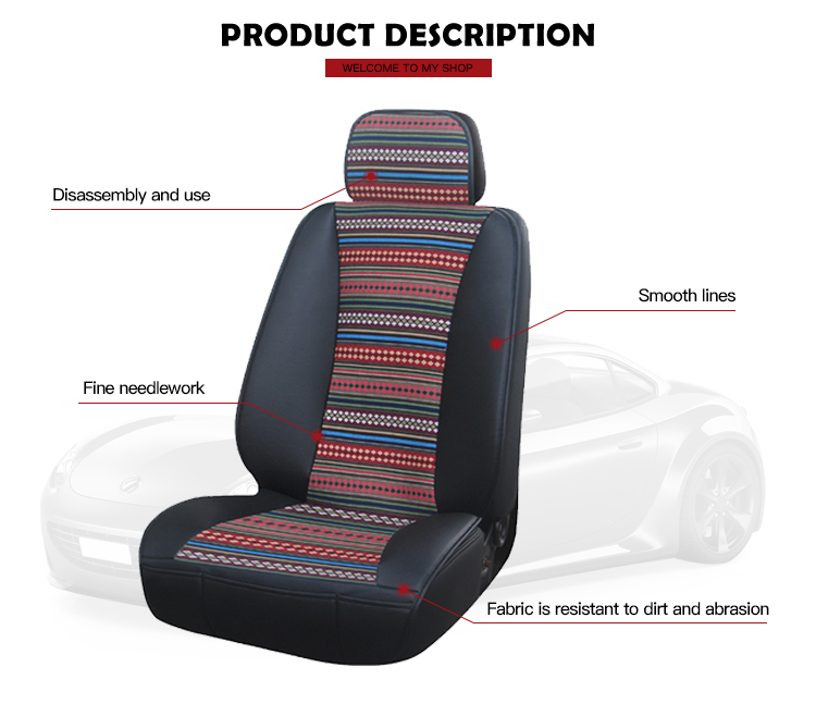 Custom Colors Polyester Fashion Car Seat Cover Cushion