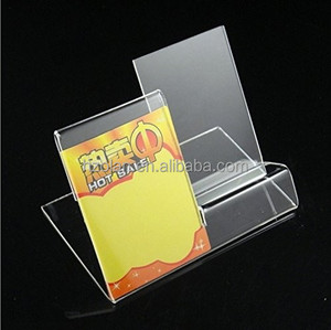 Plexiglass Mobile Accessory Display Stand Acrylic Cell Phone Holder with Price Tag