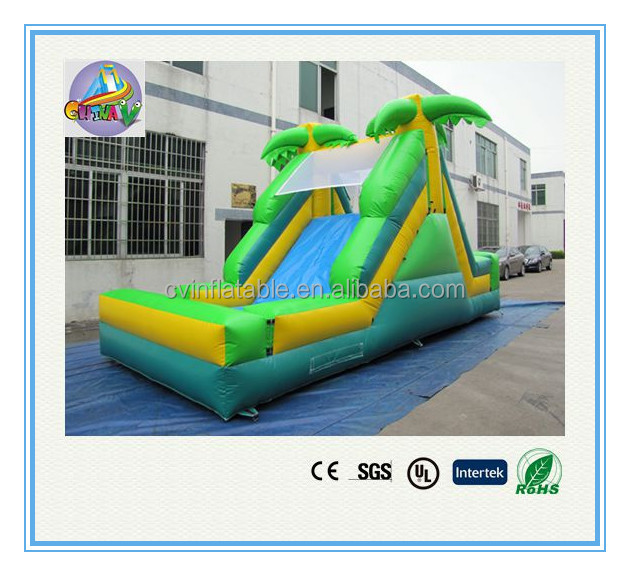 Tropical theme Inflatable slide, cheap inflatable jumping slide, china inflatable children slide factory direct