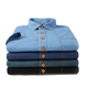 Summer fashion new short-sleeved cotton denim men's casual shirt for wholesale