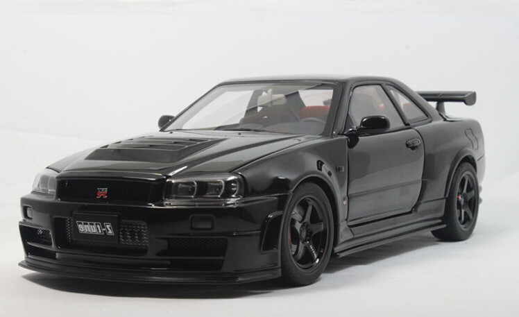 2015 hot sell nissan r34 nismo r34 gt r z tune 1 18 alloy car model in diecasts toy vehicles. Black Bedroom Furniture Sets. Home Design Ideas