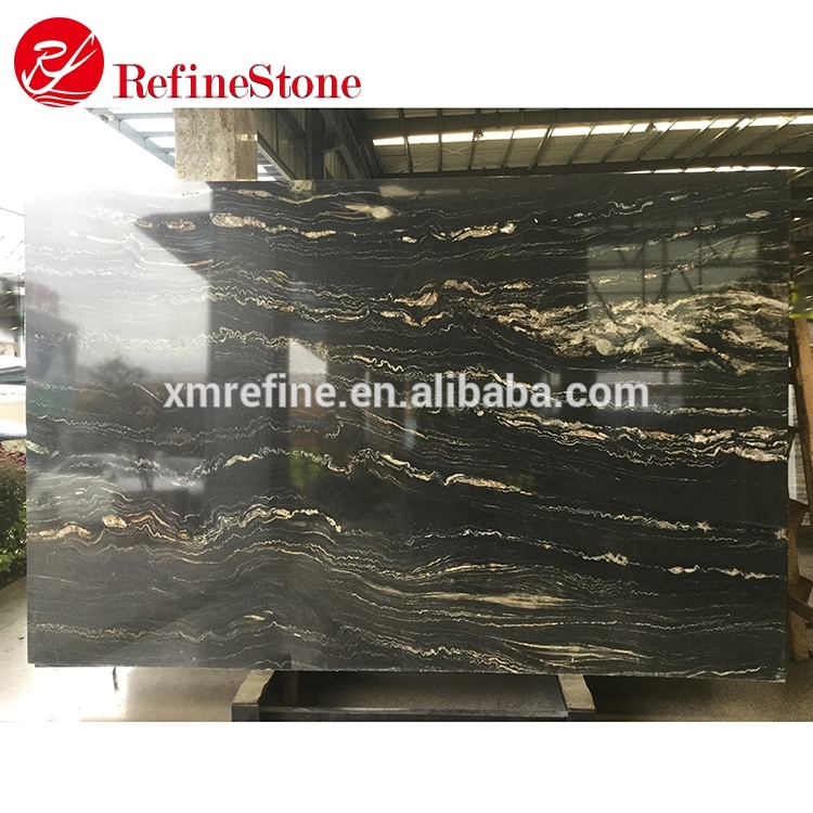 Wholesale cheap price import Brazil Magma Black granite slab