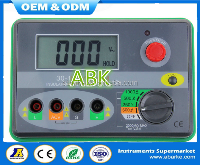 digital insulation resistance tester dy30-1 meter in china supplier