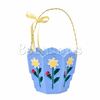 Hand Craft Plastic & Cotton Flower Basket Multicolor Wholesale Cross Stitch Patterns