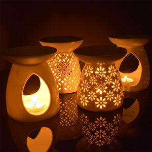Wholesale Led Tea Light Candles Ceramic Oil Burners