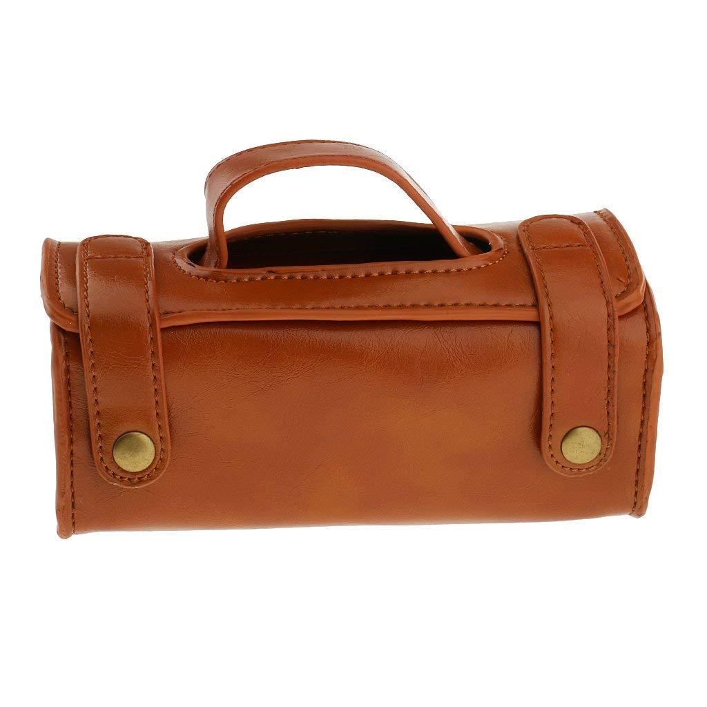 Dovewill Men Portable Cosmetic Pouch PU Leather Shaving Brush Kit Accessory & Razor Toiletry Bag Sport Travel Case Organizer
