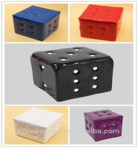 manufacture china wholesale leather square ottoman pouf with best price