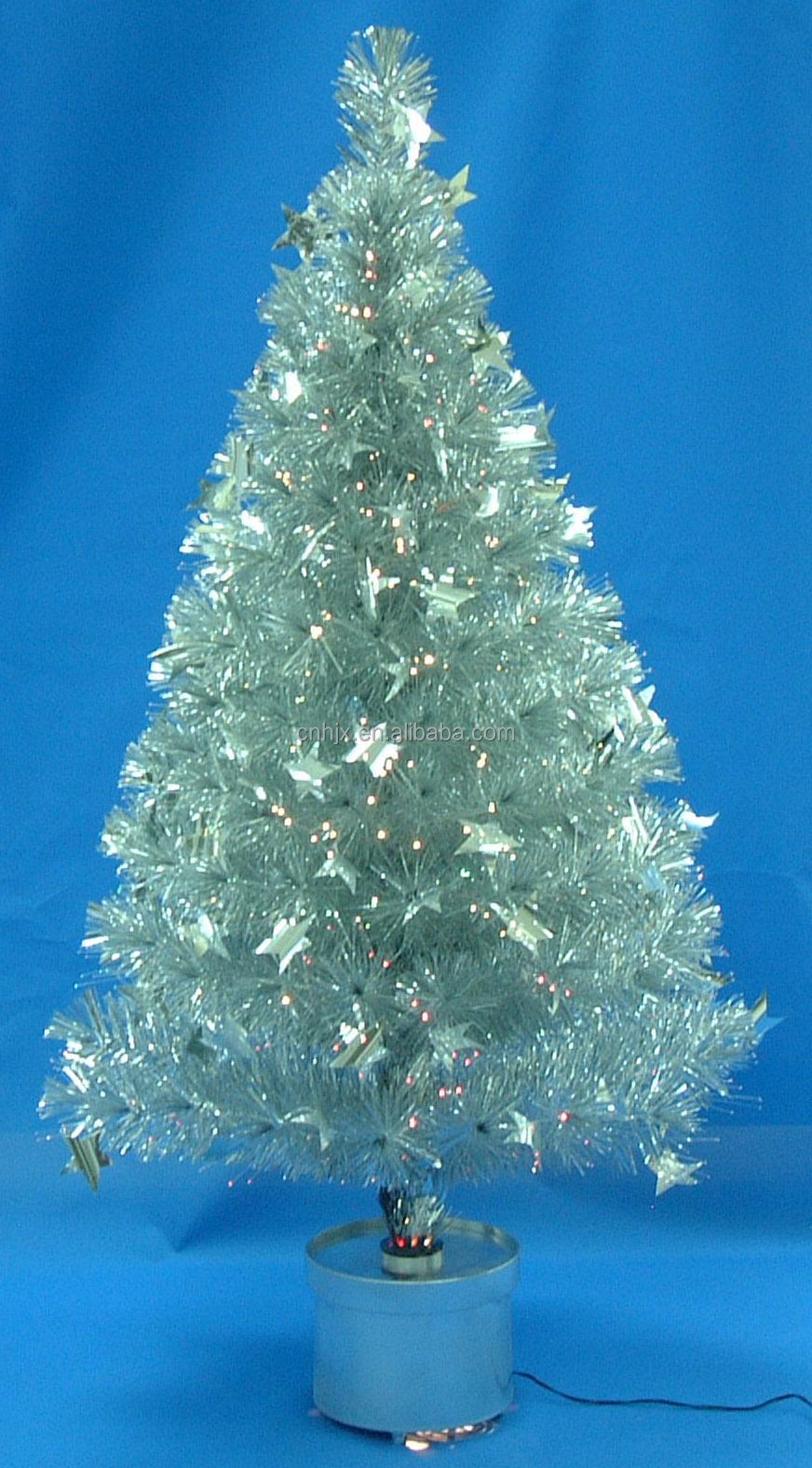 Albero Di Natale Nero.Sliver Glitter Bianco Caldo Led Pvc Albero Di Natale Mini Fibra