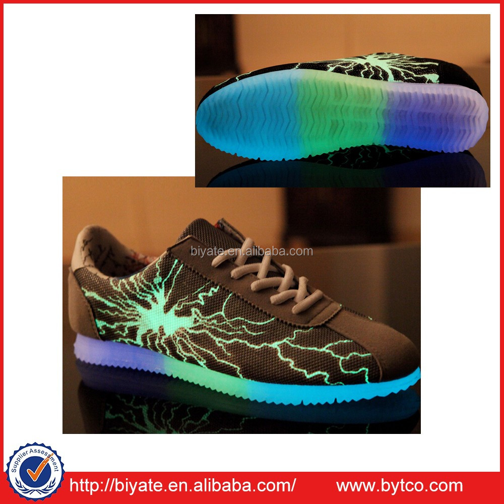 Hot sell Flashing Sneakers,Lightning canvas nice sneaker