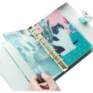 Creative color printing partition plate removable pvc cover waterproof sprial notebook