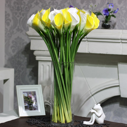Home/Wedding Decoration 72CM Common Calla,Lifelike Silicon Common Calla,Artificial Single Calla Lily