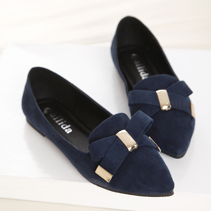 Free Shipping 2014 new bow women's flat shoes, women casual shoes,pleaser, girls shoes,large size shoes SIZE :33-43