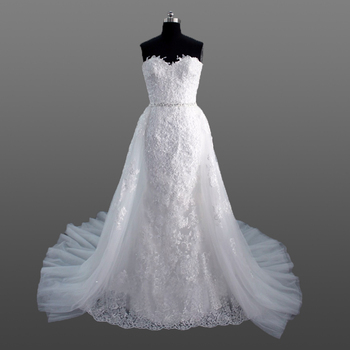 Bridal Gown Latest Designs Heavy Lace Appliqued Wedding Dress With ...