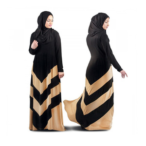2019 patchwork z-shaped Abaya Long Muslim Evening Gown Dress For Women