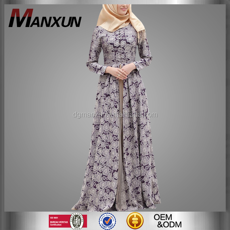 2017 Moroccan dress abaya OEM Service supply type islamic women clothing elegant muslim gowns online