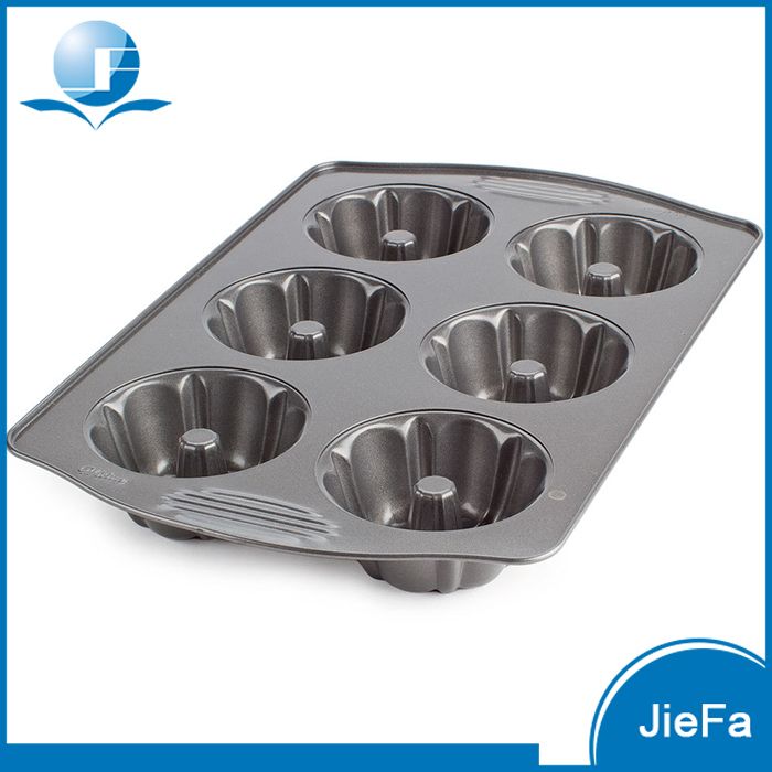 6 holes Household Baking Used Carbon Steel Cake Mould