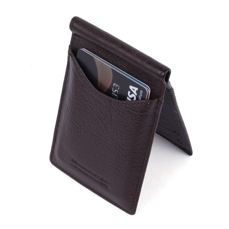 Business men RFID Blocking Card Holder Wallet Minimalist Leather Wallet