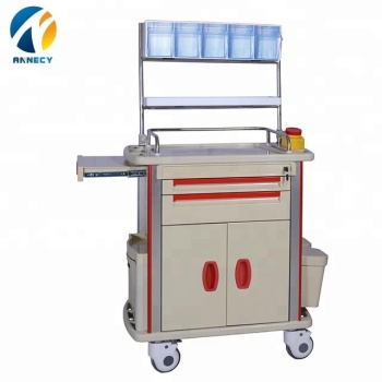 AC-AT013 hot sale patient abs anesthesia treatment trolley cart  with drawer