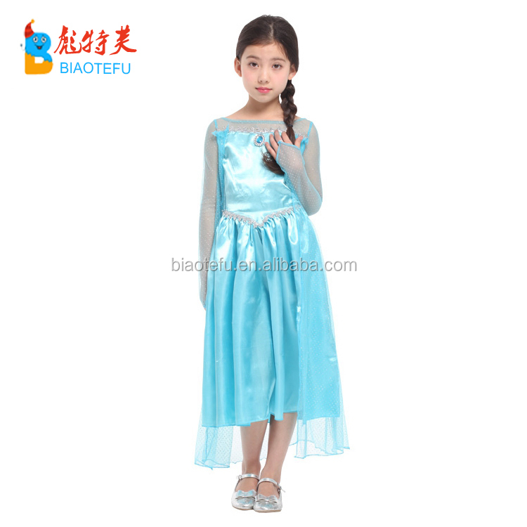 hot sale sexy children carnival party cosplay princess elsa costumes frozen elsa fancy dress for girls costumes