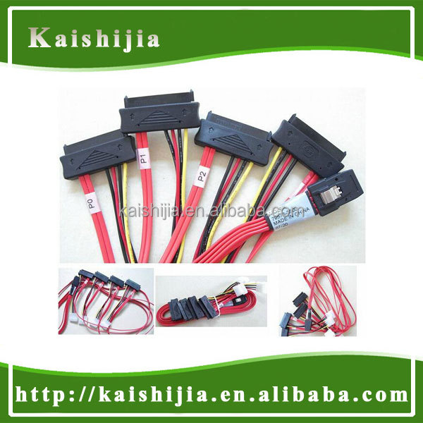 Factory Supply Mini SAS 36Pin To 4X SAS 29Pin Cable, SFF 8087 To 4X SFF 8482 Cable