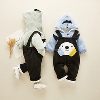 2018 Winter Baby Clothes Boy's And Girl's Thickening 2-pieces suits