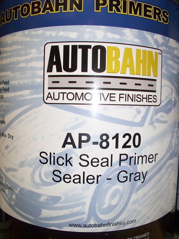 Autobahn AP-8120 1 Gallon Gray Slick Seal Primer Sealer Kit Wholesale Auto Paints Gallon Auto Car Truck Paint kit Restoration Project Body Shop Repair Touch Up Boat Golf Cart Airplane Aluminum