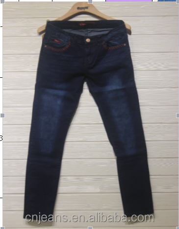 GZY stock jeans wholesale Fashionable New Design High Quality men long jeans blue 8 different back pockets embroidery