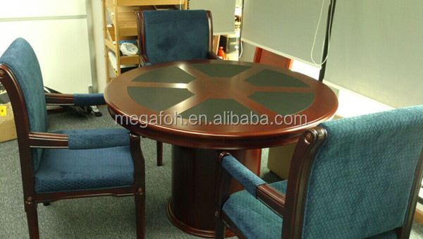 classic wooden conference table,small round meeting table(foh-c1200