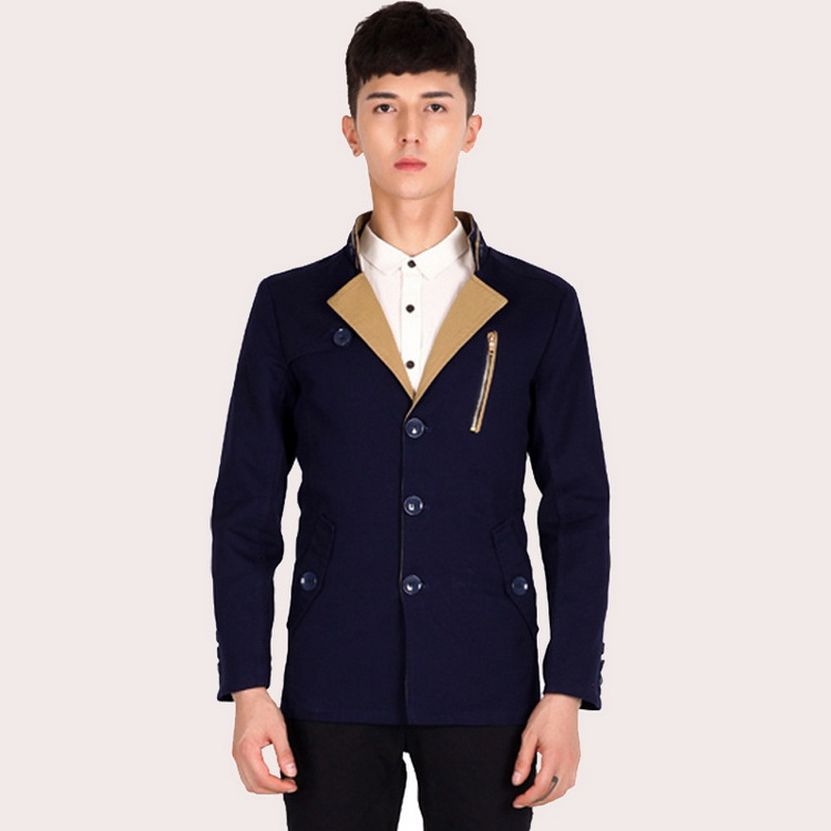 2016 autumn and winter new mens business casual cotton shirt / Korean fashion Slim mens jacket