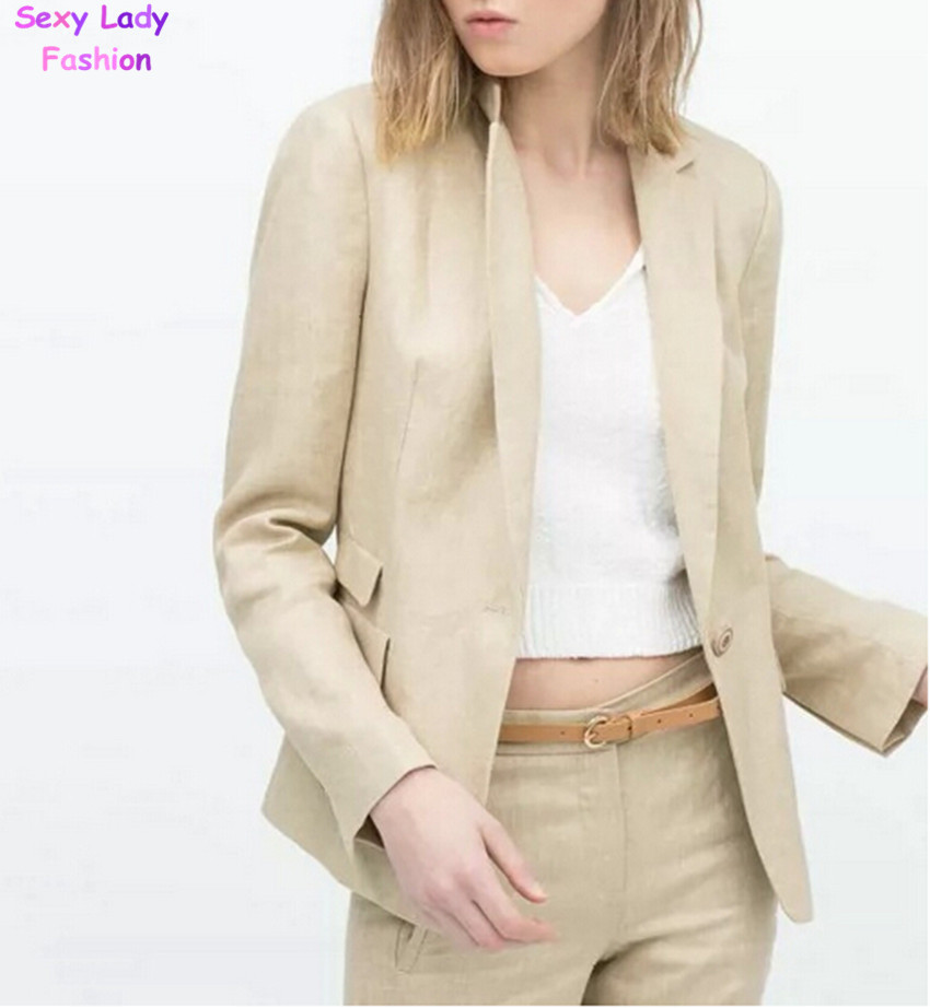 Cheap Women Linen Blazer, find Women Linen Blazer deals on line at ...