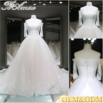 Long Sleeve Wedding Gowns 2017 Bridal Ball Gown Style Spanish ...
