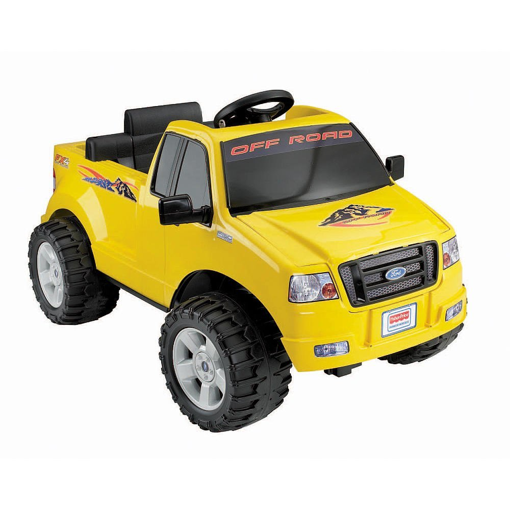 Fisher-Price Power Wheels Lil' Ford F-150 6-Volt Battery-Powered Ride-On Yellow