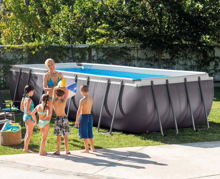 INTEX 26356 Large Adult Ultra Metal Steel Frame Swimming Pool Set