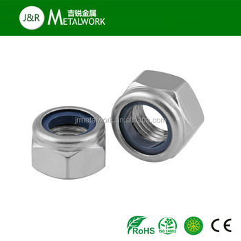 M15 M18 M19 M20 M24 M25 M26 M28 Stainless Steel SS304 SS316 Prevailing Torque Type Hex Nylon Insert Lock Nut DIN6924
