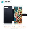 Hot Sale!!! Sublimation Blank Flip Leather Phone Case For iPhone 7 Plus/iPhone 8 Plus