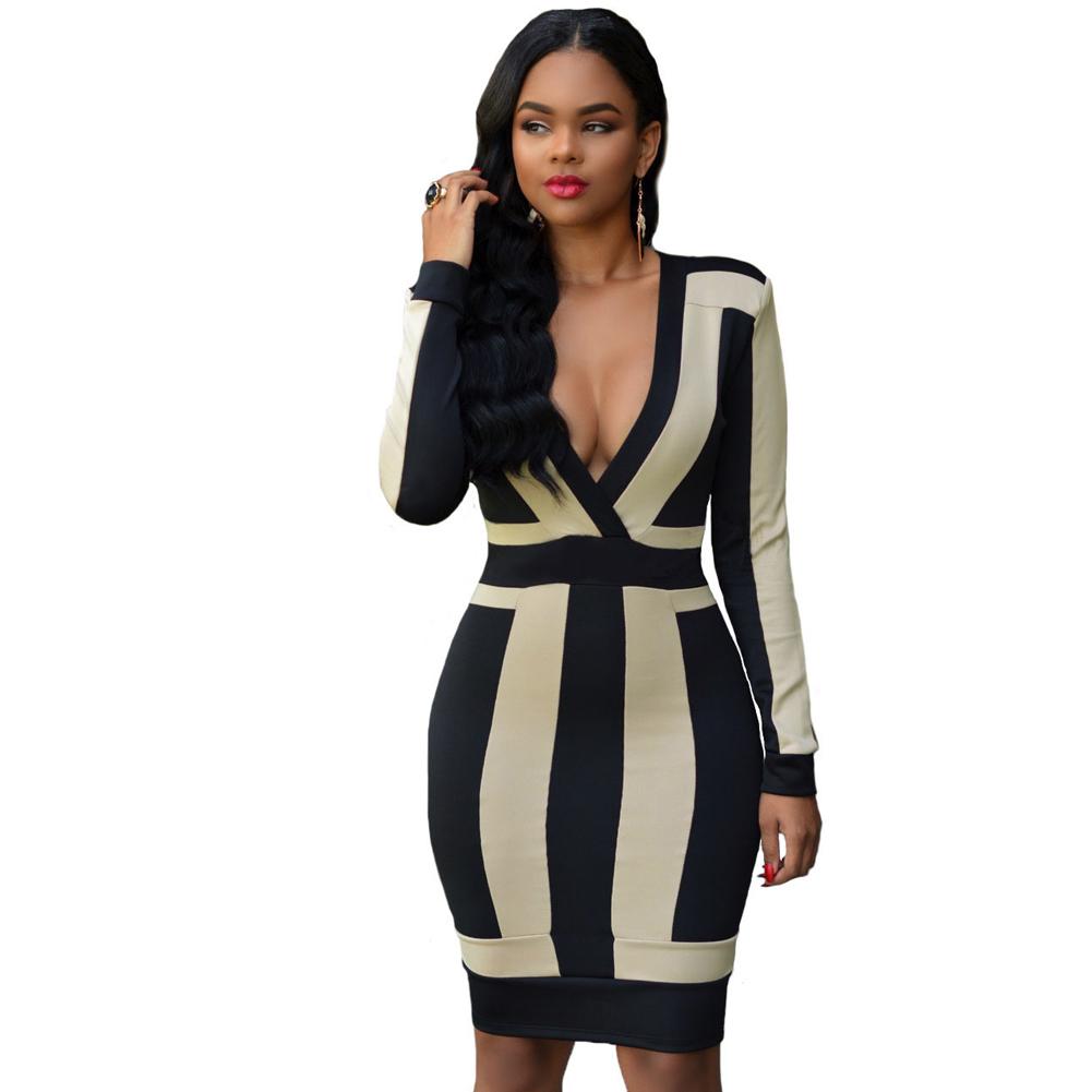 967ed17563 Turmec » black v neck bodycon dresses