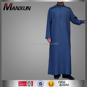 New Arrival Arabic Men Robe Muslim Long Thobe Islamic Jubbah