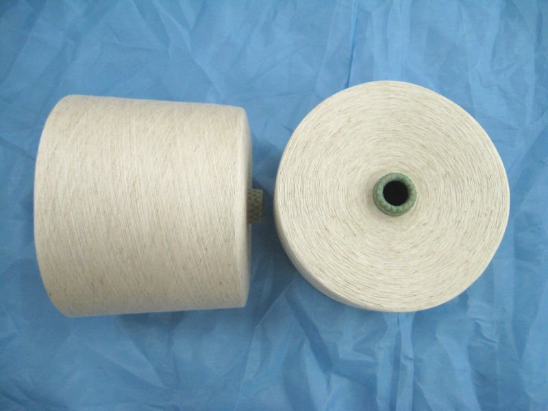 Viscose / Linen 75 / 25% blended Yarn Ne 5s ~ 30s good quanlity
