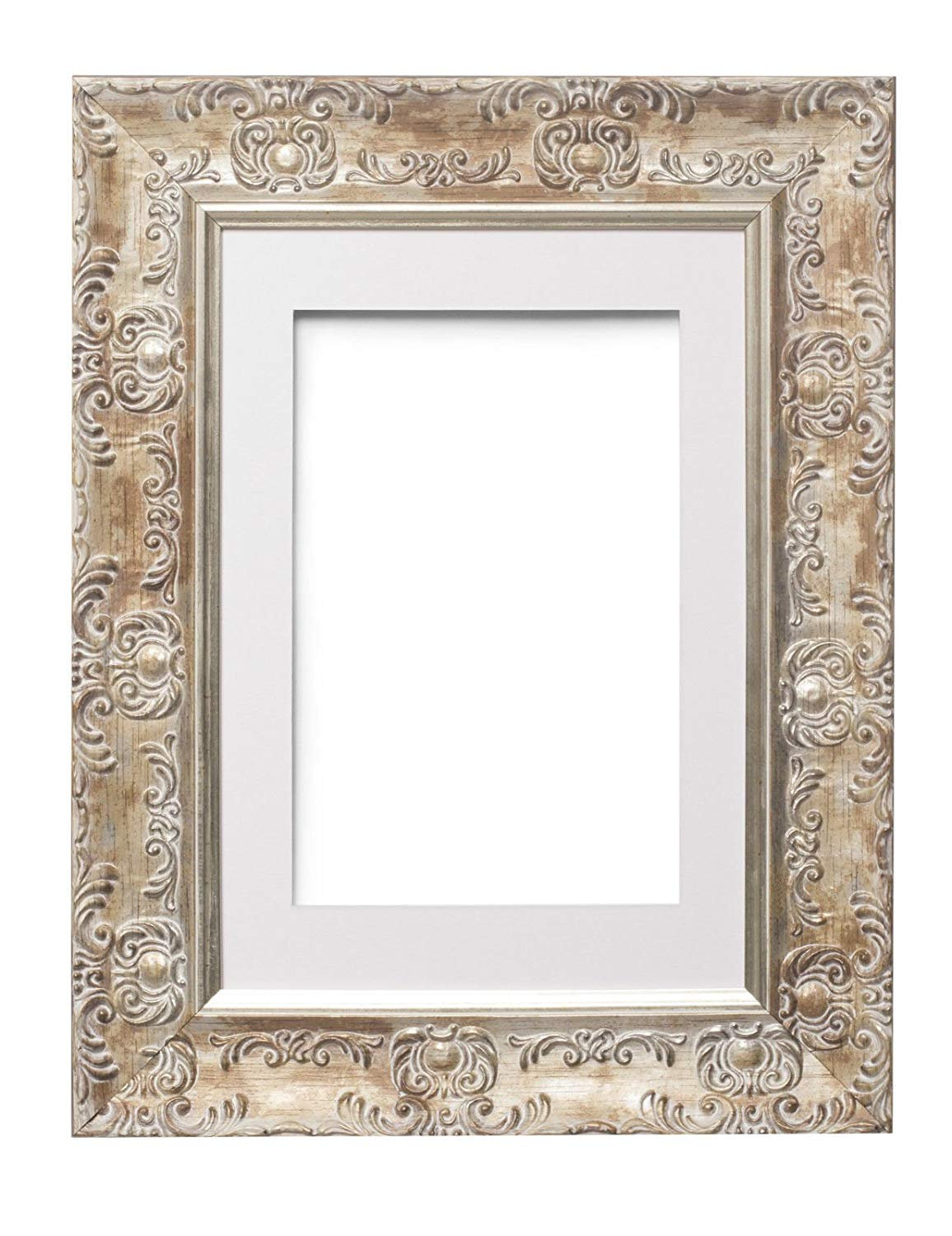 "Paintings Frames Muse Wide Ornate Muse Picture Frame/Photo Frame/Poster Frame With An MDF Backing Board With A High Clarity Styrene Shatterproof Perspex Sheet 12"" X10 ""For 10""X8""Pictures"