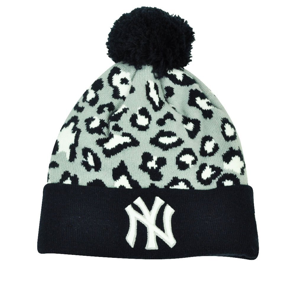 Get Quotations · MLB New Era Winter Jungle New York Yankees Cheetah Knit  Beanie Cuffed Hat Toque d98d97401257