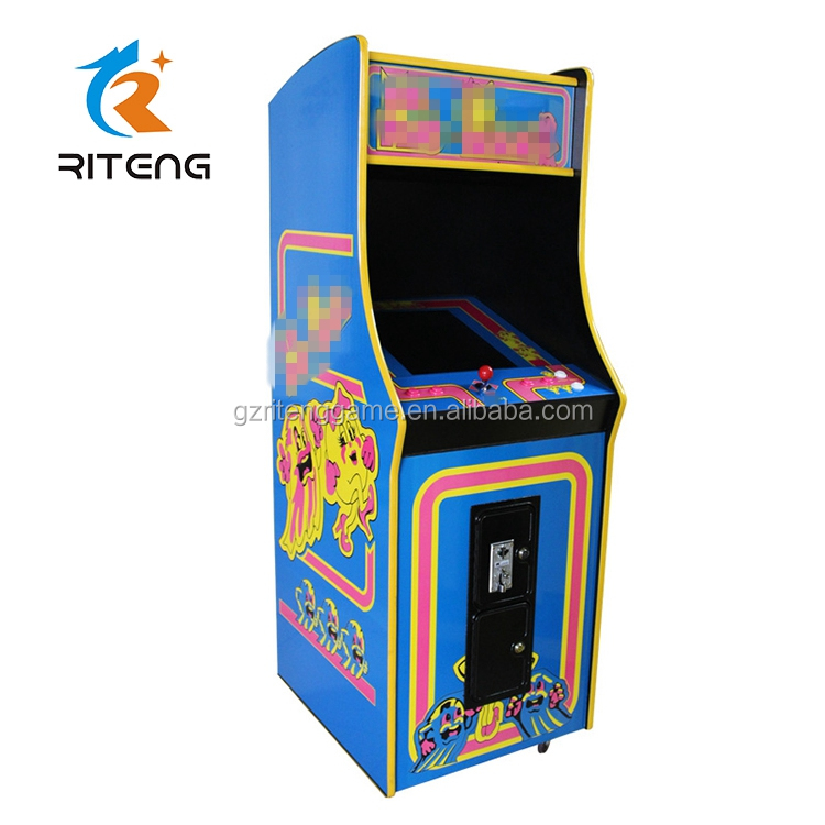 Coin-operated Full Size Ms Pacman Upright Arcade Game ...
